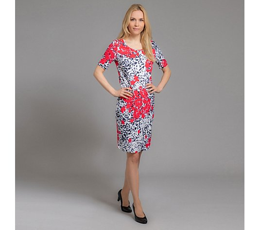 TODAY´S WOMAN Kleid 1/2-Arm Rundhalsausschnitt Animal-Blumendruck