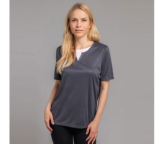 JERYMOOD HOMEWEAR Shirt, 1/2-Arm Mikrofaser Double Layer Kontrastdetail