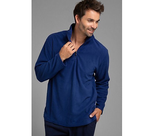MEN'S TOUCH Pullover Mikrofaser Fleece Troyer-Kragen