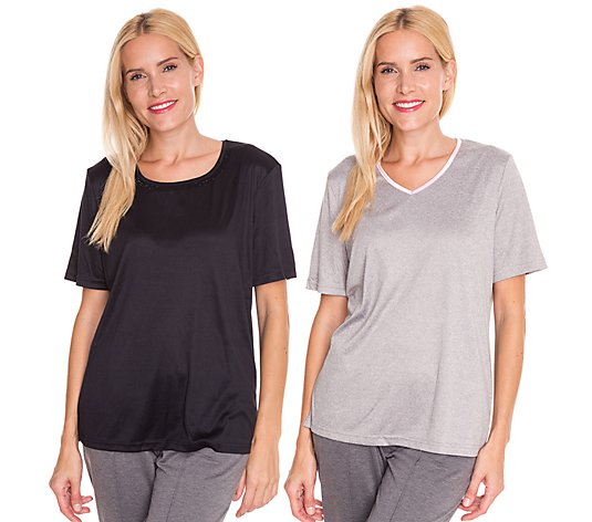 JERYMOOD HOMEWEAR 2 Shirts, 1/2-Arm Jersey Interlock Ziersteine