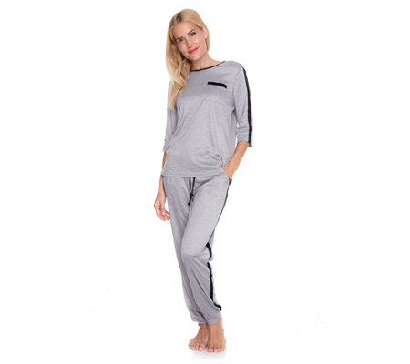 JERYMOOD HOMEWEAR MF Jersey Interlock Loungeanzug Shirt, 3/4-Arm Hose, 1/1-Länge