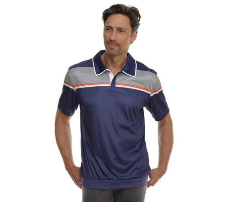 MEN'S TOUCH MF Jersey Interlock Poloshirt 1/2-Arm Streifendruck