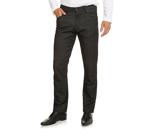 BUGATTI Herrenhose Model Cordoba 5-Pocket-Style Salz-Pfeffer-Optik