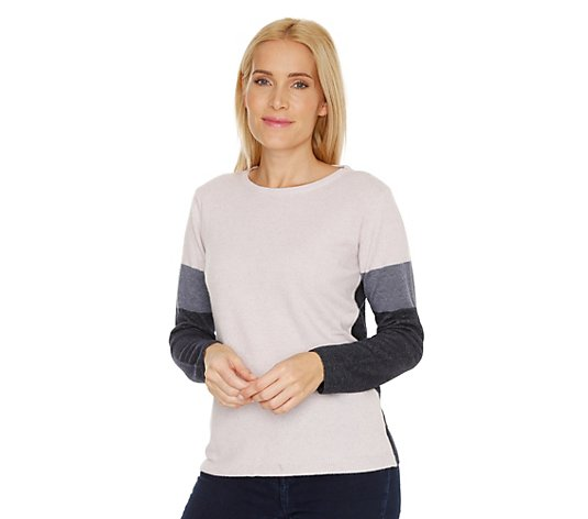 HEKLA & CO Pullover 1/1-Arm Colourblocking Made in Italy