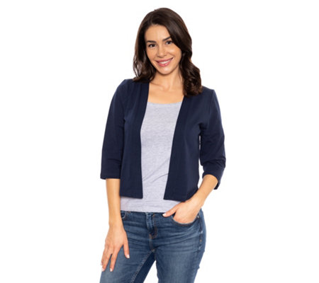 DENIM & CO. Bolero 3/4-Arm offene Front uni
