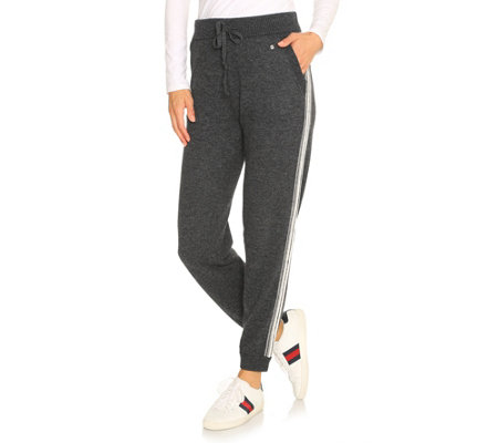 BARBARA BECKER MIAMI FIT Strickhose Kordelzug Galonstreifen