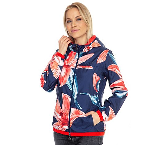 BARBARA BECKER MIAMI FIT, Jacke Sommerware Blumendruck 2-Wege-Zipper