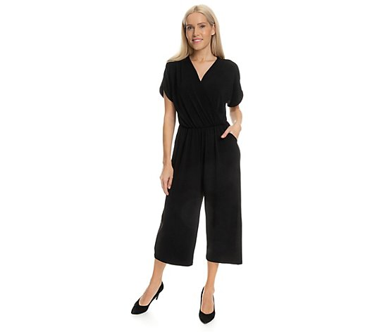 KIM & CO. Jumpsuit, 1/4-Arm Brazil Knit Jersey Culotte-Hose 2 Seitentaschen