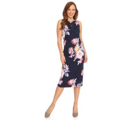 buy popular 84faf 2296e TOM JOULE Kleid ohne Arm Ausschnitt mit Bindeband Jersey — QVC.de