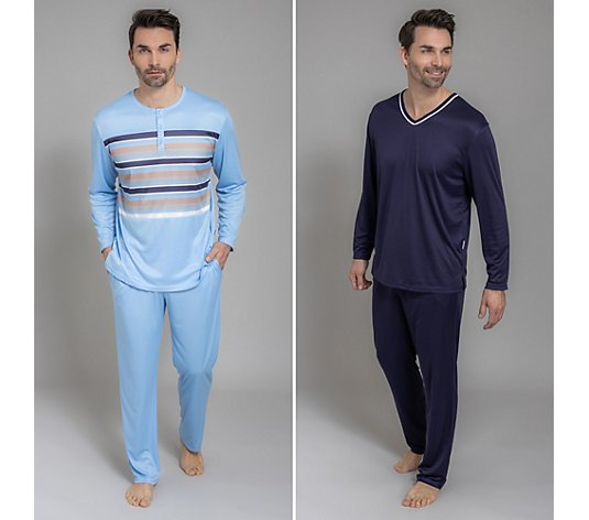 MEN'S TOUCH 2 Pyjamas 1/1-Arm 1x gestreift 1x uni