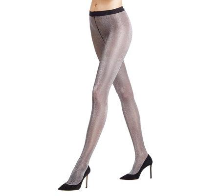 schön billig High Fashion ästhetisches Aussehen FALKE Damen- Strumpfhose Metallic-Effekt glänzend — QVC.de