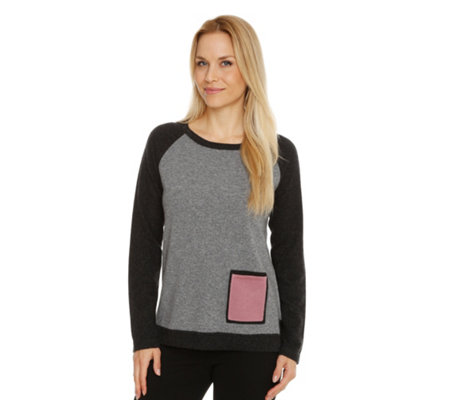 IN CASHMERE Pullover, 1/1-Arm Tasche Colourblocking 100% Kaschmir
