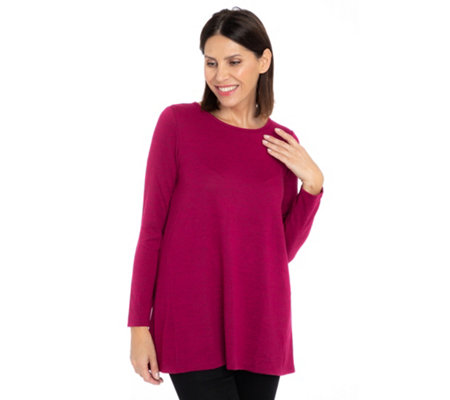KIM & CO. Shirt 1/1-Arm Soft Touch Jersey lange Form ausgestellter Saum