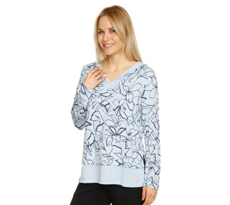 CUDDL DUDS Shirt, 1/1-Arm Sweatqualität Kapuze Lagen-Optik