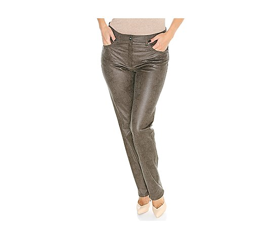 RAPHAELA by BRAX Hose Lea PU beschichtet 5-Pocket-Style Pro Form Super Slim