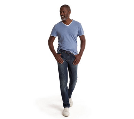 CLUB OF COMFORT® Jeanshose, Henry 5-Pocket-Style Light Denim Used-Optik