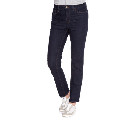 DENIM & CO. Hose Dalia 5-Pocket-Style gerades Bein