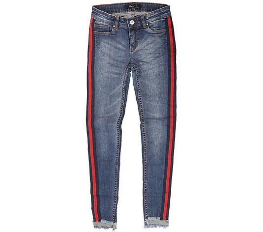 JETTE by Staccato Mädchenjeans 5-Pocket-Style Stretch-Denim Fransensaum