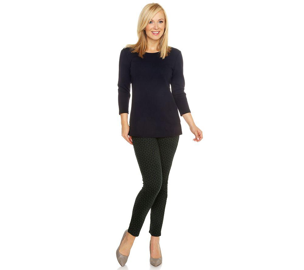 NINA LEONARD Shirt, 3/4-Arm Hose lange Form Set, 2tlg ...