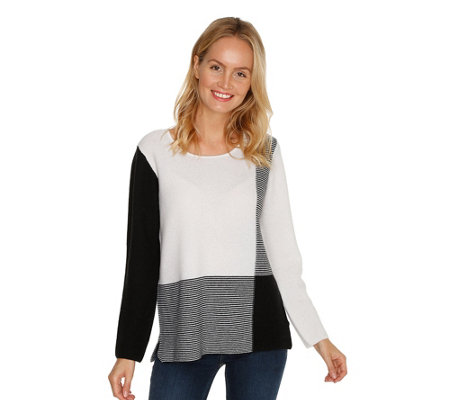 IN CASHMERE Pullover 1/1-Arm grafisches Muster 100% Kaschmir