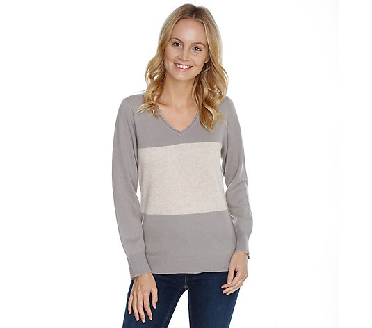IN CASHMERE Pullover 1/1-Arm Color-Blocking 100% Kaschmir