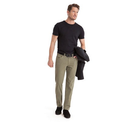 CLUB OF COMFORT® Herrenhose Kent 5-Pocket-Style Materialmix
