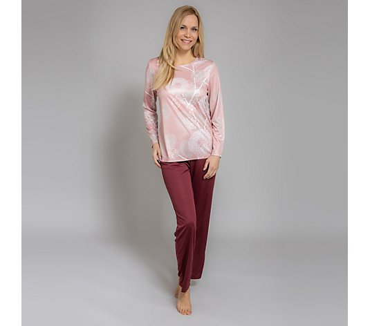 LITTLE ROSE Pyjama 1/1-Arm Mikrofaser 1/1-Hose bedruckt