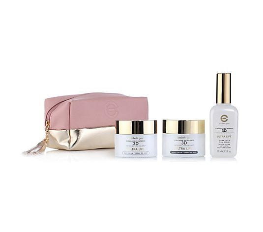 ELIZABETH GRANT Collagen Ultra Lift Tages- & Nachtcreme je 100ml, Serum 90ml & Tasche