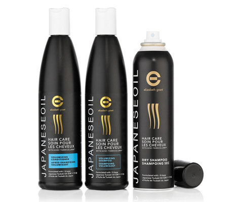 ELIZABETH GRANT Japanese Oil Volumen-Shampoo, Conditioner & Trockenshampoo