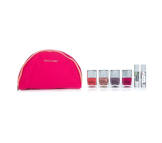 NAILS.INC® Superfruit Collection Farblack 4x 14ml Lippenroller 2x 7ml mit Tasche