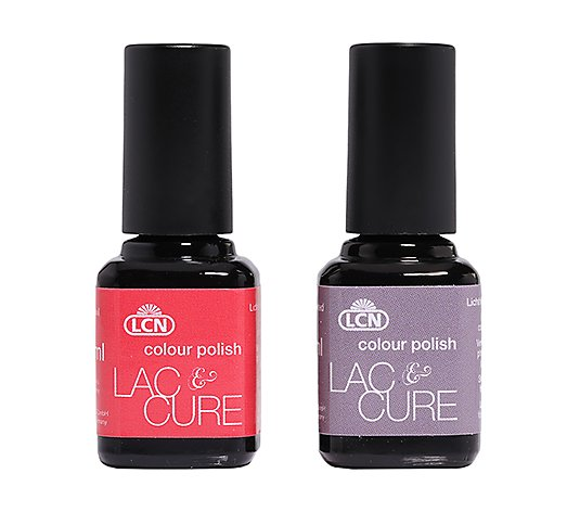 LCN Lac&Cure UV-Lacke koralle & taupe je 8ml