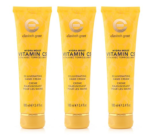 ELIZABETH GRANT Hydra Moist Vitamin C5 Hand Cream 3x 100ml