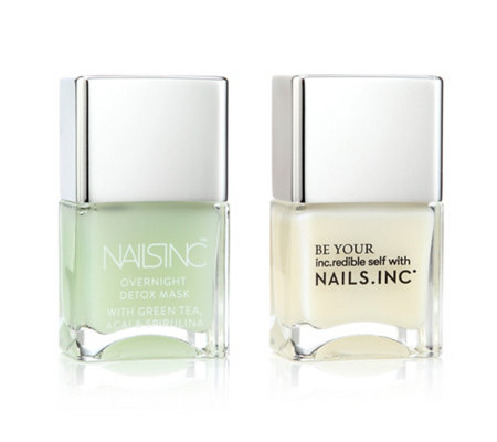 NAILS INC Day & Night Care Overnight Detox Gel-Rehabilitation 2x 14ml
