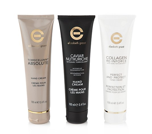 ELIZABETH GRANT Handcreme-Set Collagen, Caviar & Torricelumn™ 3x 100ml