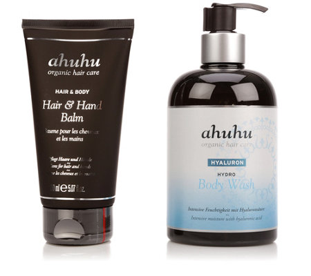 ahuhu organic haircare Hydro Body Wash Hair & Hand Balm 2tlg