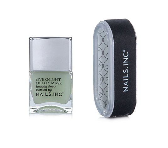 NAILS.INC® Nagelpflege-Duo Nagel OverNight Detox Maske 14ml Ergonomische Feile