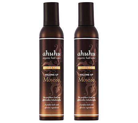 ahuhu organic hair care Volume up Mousse Volumenschaum-Duo je 300ml