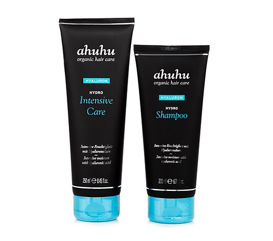 ahuhu organic hair care Hydro Shampoo 200ml & Hydro Intensive Repair 250ml