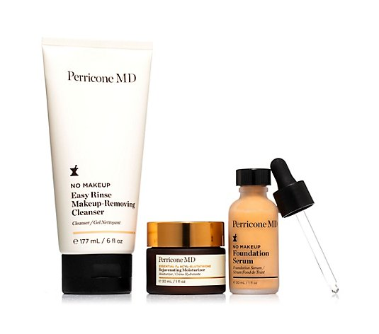 DR. PERRICONE Cleanser 177ml, Essential Fx Moisturizer 30ml & No Makeup Serum 30ml