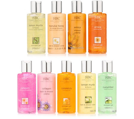 SBC Mini-Collection Skincare Gel & Duschgel 9x 100ml