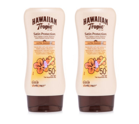 HAWAIIAN TROPIC™ Satin Protection Sonnencreme mit LSF 50+ 2x 180ml