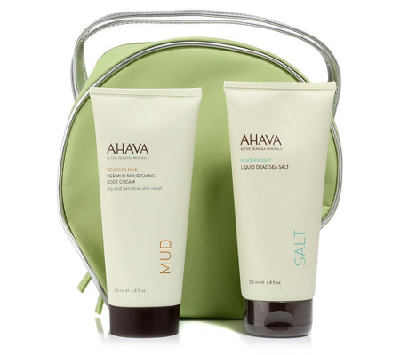 AHAVA Dermud Nourishing Body Cream 200ml & Liquid Dead Sea Salt 200ml