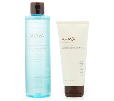 AHAVA Refreshing Cleansing Gel 100ml & Mineral Toning Water 250ml Set 2tlg.