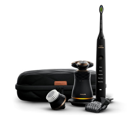 PHILIPS IconiQ Männer-Set Diamond Clean Rasur-Set inkl. Reinigungsbürste