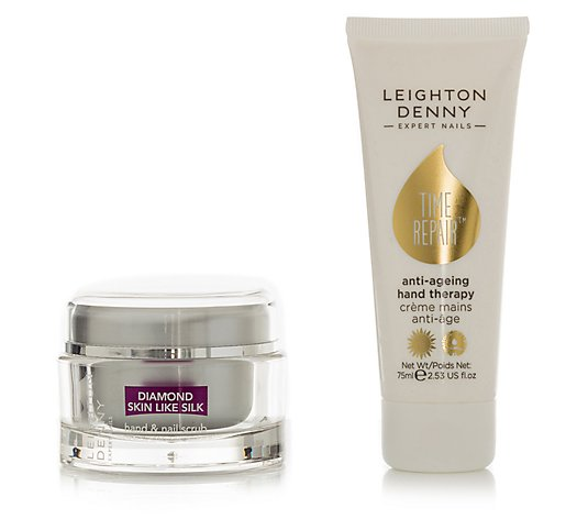 LEIGHTON DENNY Time Repair Anti-Aging-Handcreme & Handpeeling Set, 2tlg.