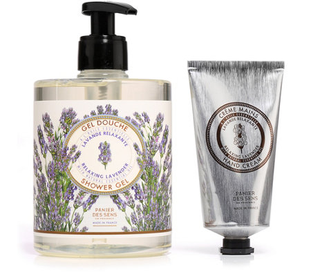 PANIER DES SENS LAVENDER Shower Gel 500ml Hand Cream 75ml 2tlg. Set