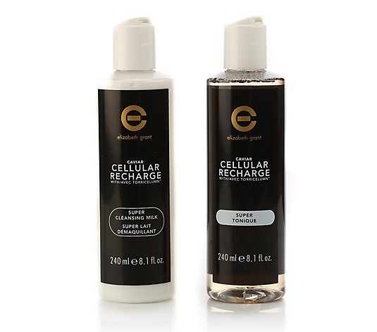 ELIZABETH GRANT Caviar Cellular Recharge Super Cleanser & Toner 2x 240ml