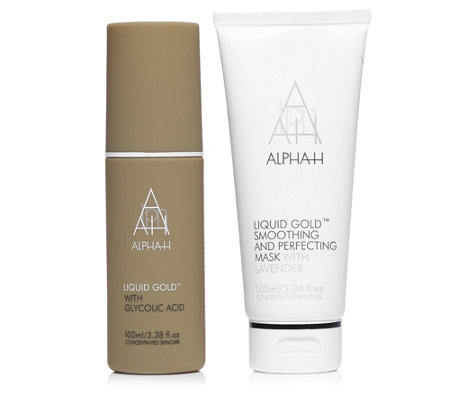 ALPHA-H Liquid Gold Lotion & Liquid Gold Smoothing mit Perfecting Mask 2tlg.