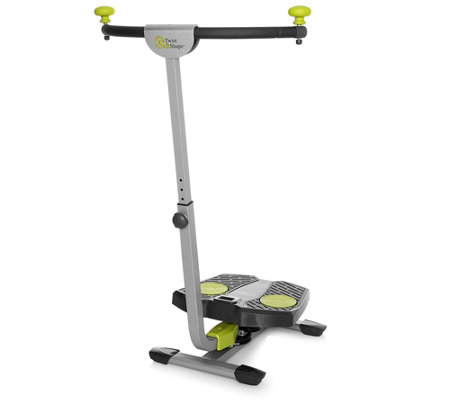 Twist & Shape Bauch-Beine-Po Trainer + innovatives Dual-Power Rotationssystem