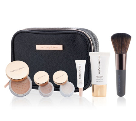 NUDE BY NATURE Travel Essentials Starter Kit inkl. Foundation mit Tasche 7tlg.